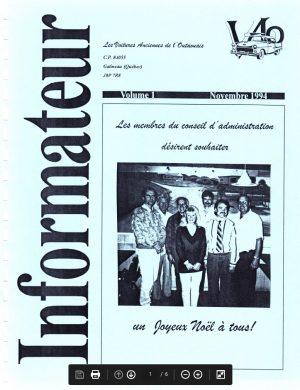 Couverture Lnformateur Nov.1994