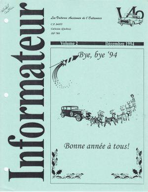 Volume 2 - Décembre 1994_Couverture