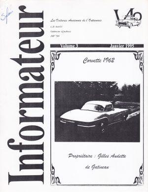 Volume 3 - Janvier 1995_Couverture