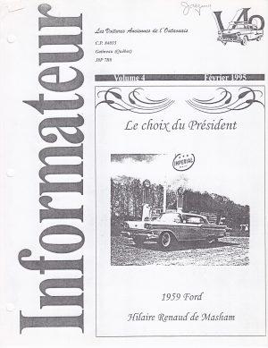 Volume 4 - Février 1995_Couverture