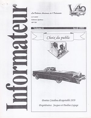 Volume 6 - Avril 1995_Couverture