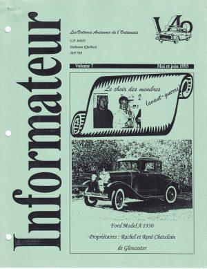 Volume 7 - Mai et juin 1995_Couverture