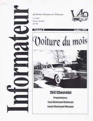 Volume 8 - Juillet 1995_Couverture